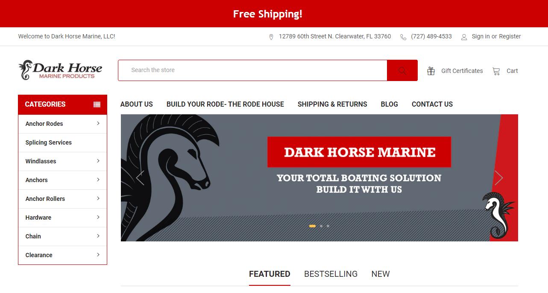 Dark Horse Marine dropshipping store