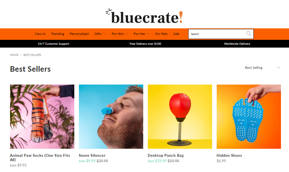Bluecrate is a top-selling Shopify dropshipping store