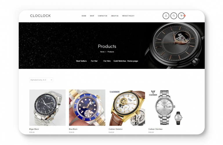 Cloclock store