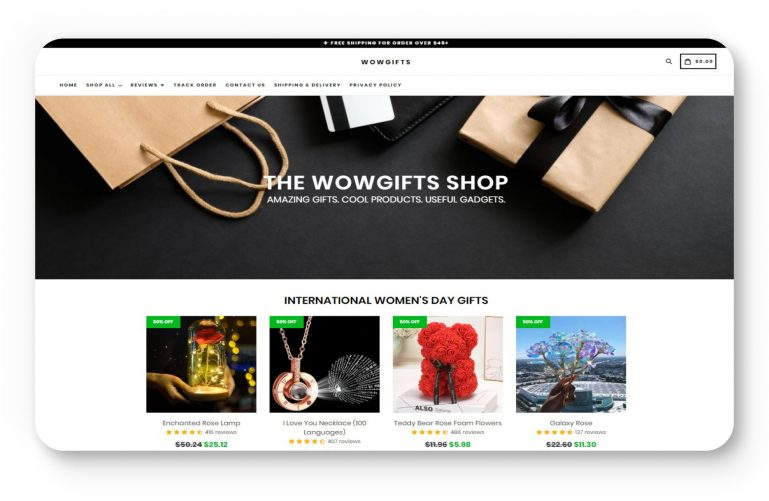 Wowgifts store